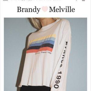 Brandy Melville Tops - Brandy Melville Acacia Biarritz France 1990 Top